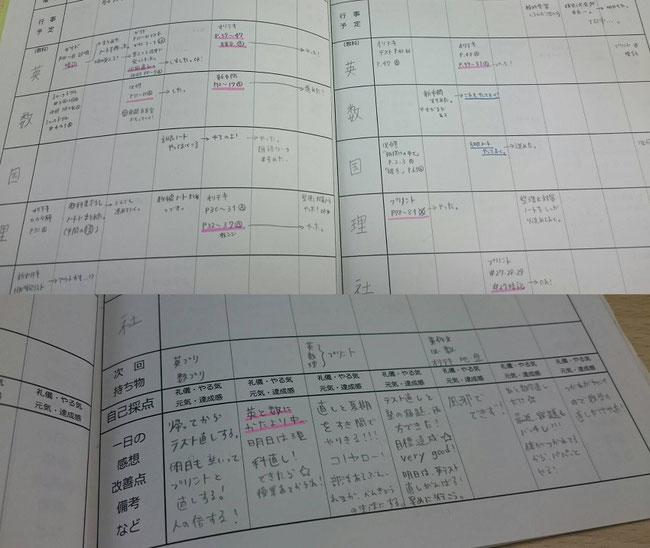 学習塾AQURASでの授業スケジュール