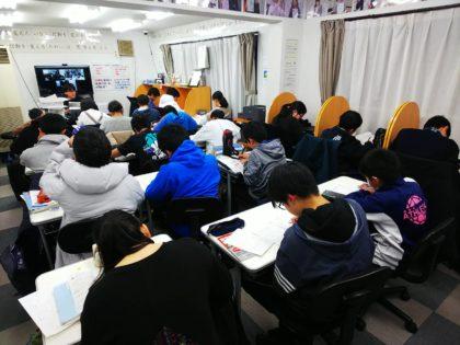 AQURASの中学準備講座の授業